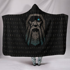 Viking Odin Hooded Blanket
