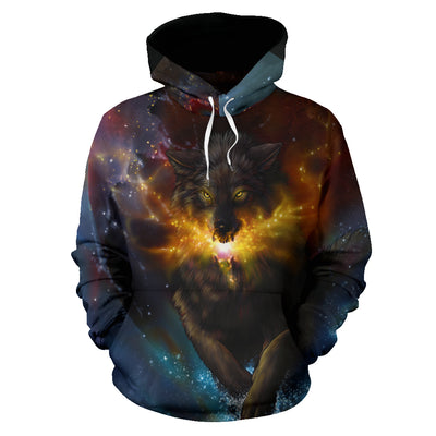 Wolf Galaxy Hoodie All Over Print