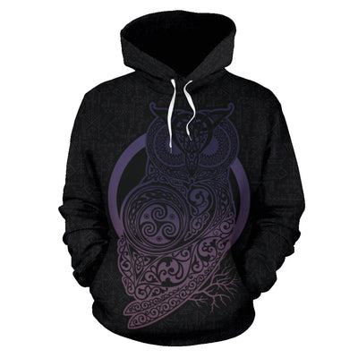 Owl of the Celts Hoodie All Over Print