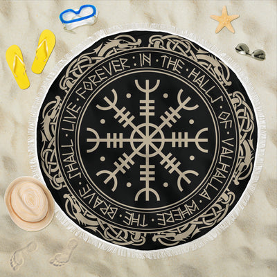 Viking Protection Symbol Beach Blanket