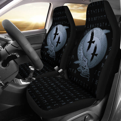 Viking Huginn and Muninn Car Seat Covers