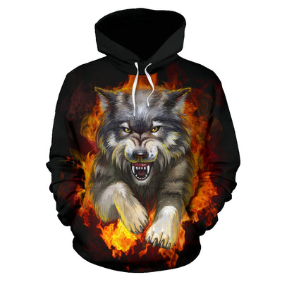 Wolf Fight Hoodie All Over Print
