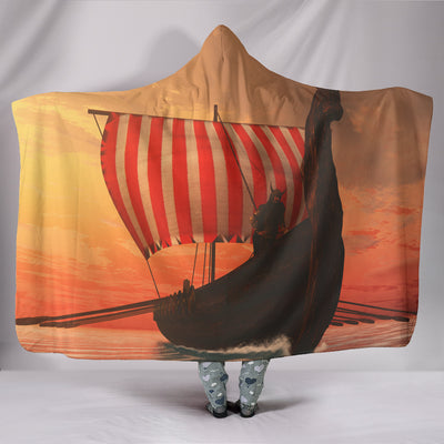 Viking Ship Hooded Blanket