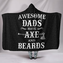 Awesome Dads Have Axe and Beards Hooded Blanket