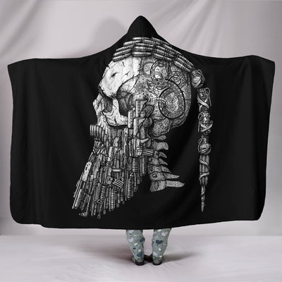 Viking Ragnar Head Hooded Blanket