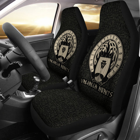 Viking Valhalla Awaits Car Seat Covers