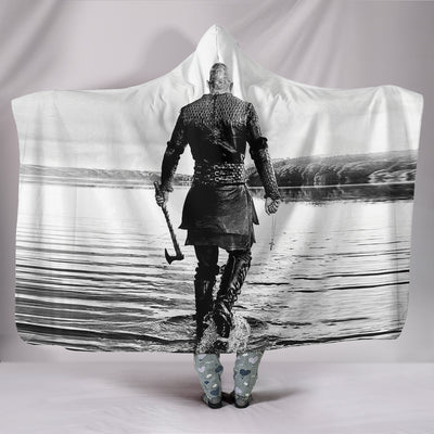 Viking Ragnar Back Hooded Blanket