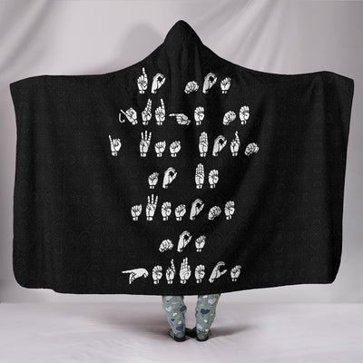 Do Not Judge Me I Was Born To Be Awesome Not Perfect ASL Hooded Blanket