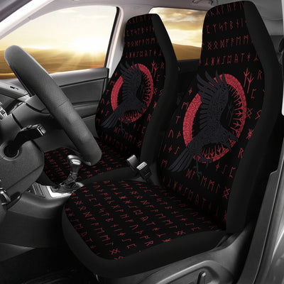 Viking Raven with Rune Car Seat Covers