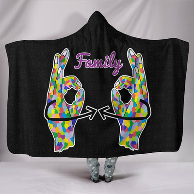 Family ASL Hooded Blanket