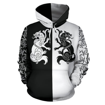 Viking Hati and Skoll Hoodie All Over Print