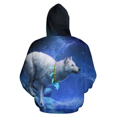 Wolf with Moon Hoodie All Over Print