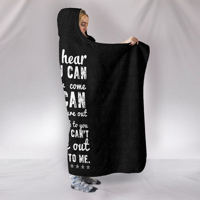 I Can't Hear But You Can ASL Hooded Blanket