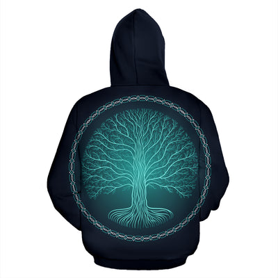 Druidic Yggdrasil Tree Hoodie All Over Print