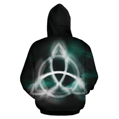 Norse symbol for Odin Zip Up Hoodie