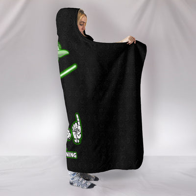 To The Hand You Talk Because Listening I Am Not ASL Hooded Blanket