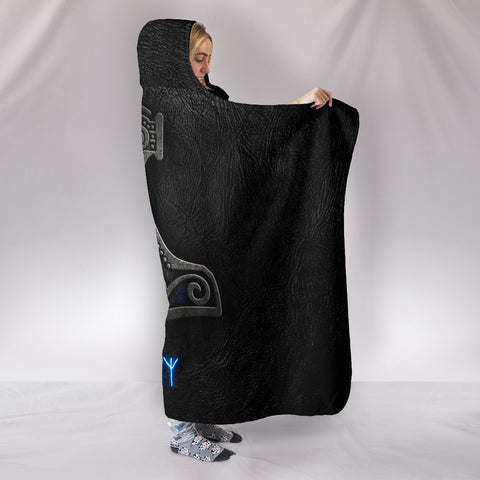Viking Mjolnir Hooded Blanket