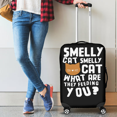 Smelly Cat Luggage Cover