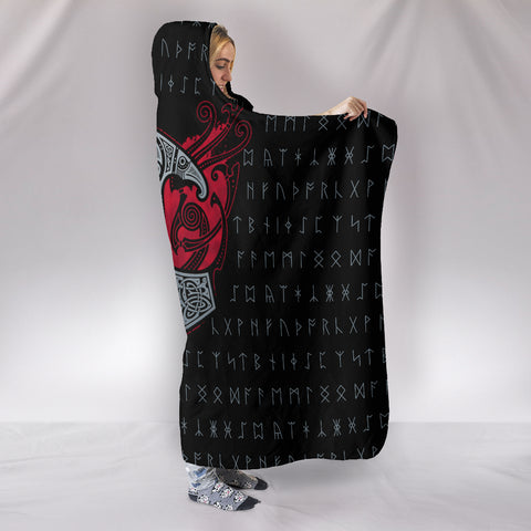 Raven's Mjolnir Hooded Blanket