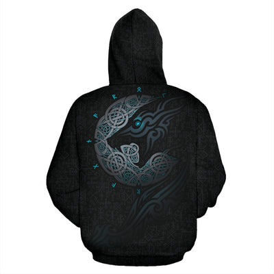 Viking Wolf Hoodie All Over Print