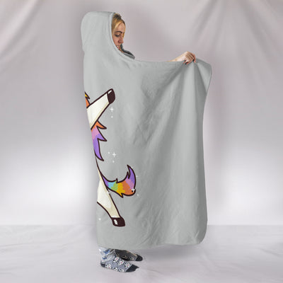 Unicorn Dabbing Hooded Blanket