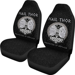 Hail Thor Protector of Midgard Car Seat Covers