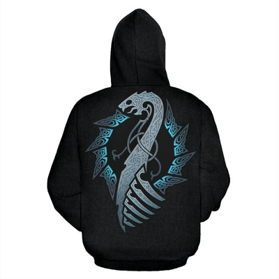 Viking Dragon Hoodie All Over Print