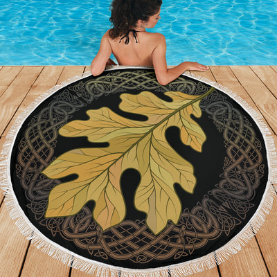 Viking Oak Leaf Beach Blanket