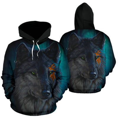 Wolf Black Fight Hoodie All Over Print
