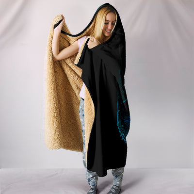 Hati and Skoll Hooded Blanket