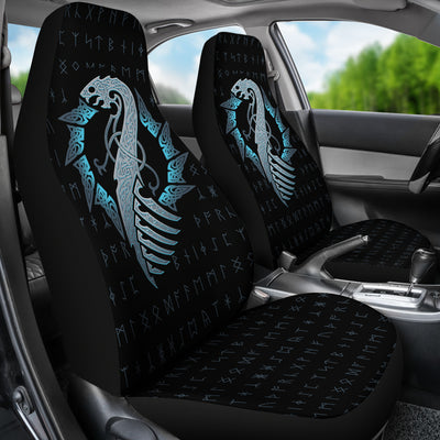 Viking Dragon with Rune Car Seat Covers