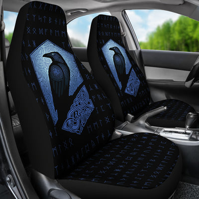 Viking Rune with Raven Car Seat Covers