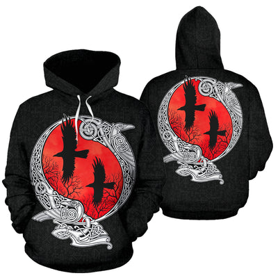 Viking Raven Hoodie All Over Print