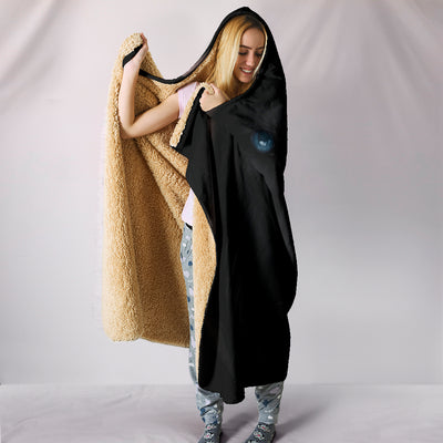 Wolf Black Fight Hooded Blanket