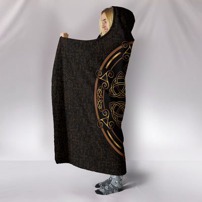 Golden Ancient Pagan Hooded Blanket