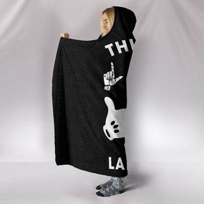 This Girl Loves Sign Language ASL Hooded Blanket