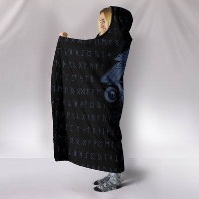 Viking Huginn and Muninn Hooded Blanket