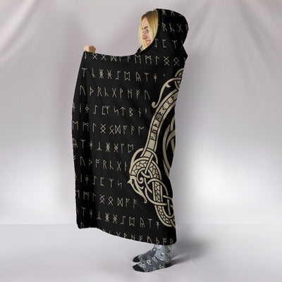Viking Yggdrasil Hooded Blanket