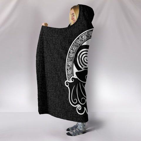 Celtic Wolf Hooded Blanket