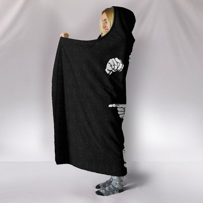 Never Give Up ASL Hooded Blanket