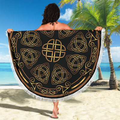 Viking Symbol Beach Blanket