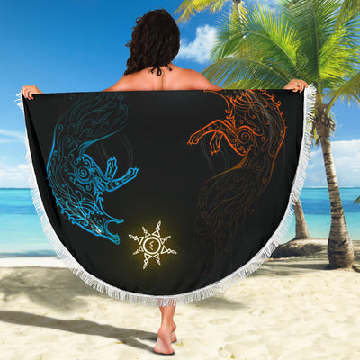 Hati and Skoll Beach Blanket
