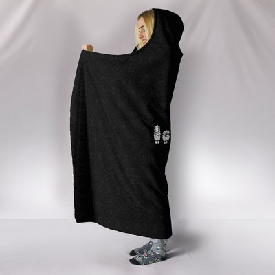 Let Your Faith Be Bigger Than Your Fear ASL Hooded Blanket