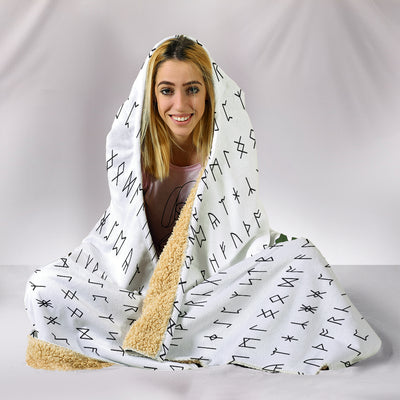 Valknut Rune Warrior Hooded Blanket