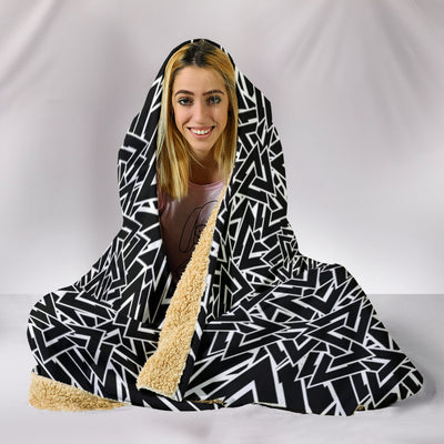 Viking Valknut Symbol Hooded Blanket