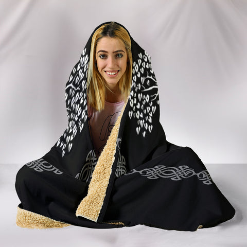 Viking Life Tree Hooded Blanket