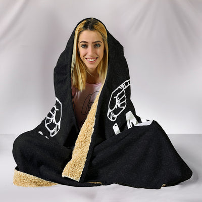 Sign Language Is A Beautiful Language ASL Hooded Blanket