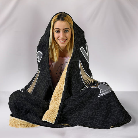 Vikings Skull Warrior Hooded Blanket