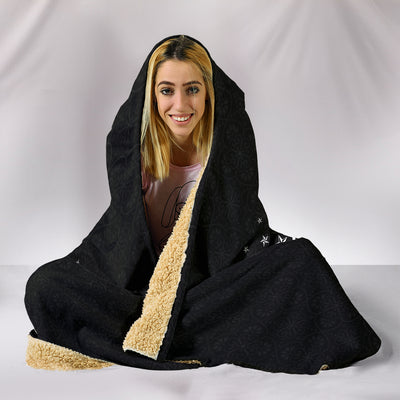 American Sign Language ASL Hooded Blanket
