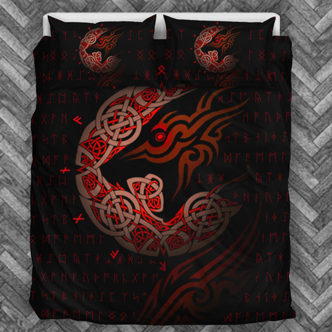 Viking Wolf Bedding Set - FREE SHIPPING WORLDWIDE